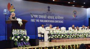 The Prime Minister, Shri Narendra Modi addressing the First PIO Parliamentarian Conference, in New Delhi.