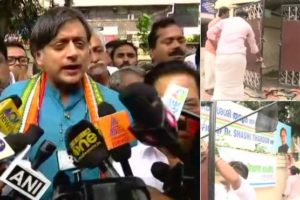 BJP activists smear black oil on Shashi Tharoor's office over his 'Hindu Pakistan' comment