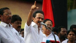 MK Stalin elected DMK president amid threats from brother Alagiri